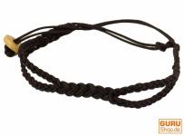 Geflochtenes Leder Armband - braun