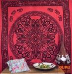 Wandbehang, Wandtuch, Mandala, Tagesdecke Keltisch - Design 14