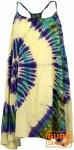 Batik Minikleid, Tunika Hippie chic, Strandkleid, Sommerkleid - naturweiß