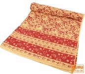 Blockdruck Tagesdecke, Bett & Sofaüberwurf, handgearbeiteter Wandbehang, Wandtuch - Muster 1