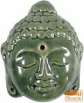 Räucherstäbchenhalter aus Keramik Buddhakopf - grün