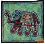 Patchwork Kissenhülle Rajasthan, Einzelstück - 10
