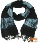 Baumwolltuch - schwarz/blau
