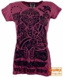 Sure T-Shirt tribal Ganesh - bordeaux