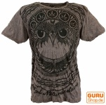 Sure T-Shirt Eule - taupe