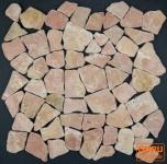 Mosaik Flächen Fliesen aus Marmor-rot (J-01)