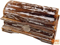 Schatztruhe, Schmuckschatulle Spirale