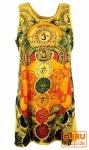 Mirror Tank Top, Longshirt, Minikleid - Meditation Om / gelb
