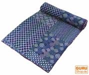 Quilt aus der Wüste Thar, Besticktes Tuch, Indische Bettüberwurf, Tagesdecke