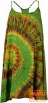 Batik Minikleid, Tunika Hippie chic, Strandkleid, Sommerkleid - grün