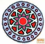 Runde upcycling Mandala Badmatte , Bodenmatte, Badvorlegerr - Motiv 10