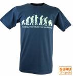 Fun T-Shirt `Evolution` - blau