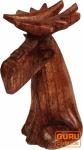 Geschnitzte kleine Deko Figur - Fancy Elch 2