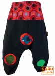 Haremshose Pluderhose Pumphose Aladinhose für Kinder - schwarz