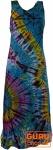 Batik Hippiekleid - blau