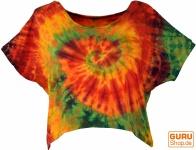 Batik Hippie T-Shirt - orange/bunt