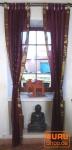 Vorhang, Gardine (1 Paar Vorhänge, Gardinen) aus Sareestoff - aubergine