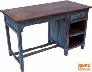 Antiker vintage Schreibtisch mit 1 Schublade und Ablagefächern