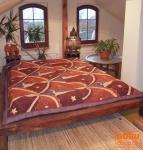 Batik Steppdecke, Bettüberwurf - Design 1
