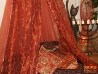 Orientalischer Baldachin1001 Nacht, Betthimmel, Moskitonetz - rot
