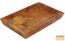 Marmor Seifenschale, Zen Schale für den Waschtisch - orange