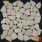 Mosaik Flächen Fliesen aus Marmor-weiß (J-02)