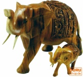 Geschnitzter Deko Elefant in 2 Größen