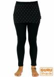 Yoga-Hose, Leggings mit Minirock Flower of life - schwarz