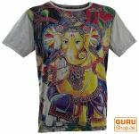 Mirror T-Shirt - Ganesh / grau