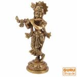 Messingfigur, Statue Krishna Statue 19 cm - Motiv 3