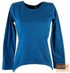 Langarmshirt Boho-chic - blau