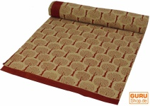 Blockdruck Tagesdecke, Bett & Sofaüberwurf, handgearbeiteter Wandbehang, Wandtuch - braun Ornament 11
