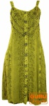 Besticktes Boho Sommerkleid, Midikleid, indisches Hippie Kleid in 3/4 Länge, lemon - Design 2