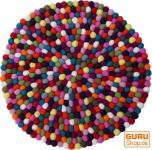 Runder Filzteppich, Bodenmatte aus kleinen Filz Kugeln - Ø 50 cm