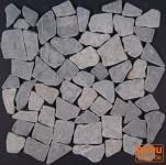 Mosaik Flächen Fliesen aus Marmor-grau (J-03)