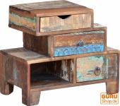 Schubfach Schrank mit 3 Schubfächern im Vintage-Design