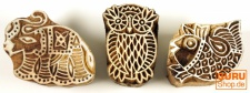 Indische Holz Stempel - Set 2