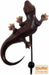 Holz Kleiderhaken `Gecko-1`