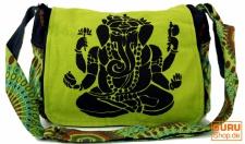 Schultertasche, Hippie Tasche, Goa Tasche Ganesha - grün