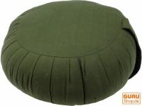 Rundes einfarbiges Meditationskissen Yoga Kissen, Sitzkissen, Bodenkissen, Dekokissen - grün