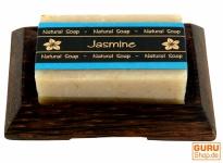 Seifenset Jasmin, Seife & Kokosholz Seifenschale