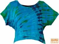 Batik Hippie T-Shirt - blau/bunt