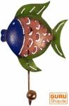 Kleiner Garderobenhaken, Metall Kleiderhaken - Fisch 1