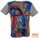 Mirror T-Shirt - Buddha / grau