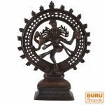 Messingfigur, Statue Shiva im Feuerkranz 29 cm - Motiv 8