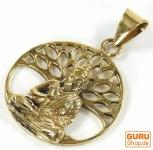 Amulett `Buddha unterm Bodhi Baum` Kettenanhänger aus Messing