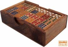 Brettspiel, Gesellschaftsspiel aus Holz - Domino