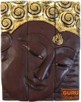 Dreiteiliges Buddhawandbild - braun 39*30 cm