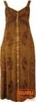 Besticktes Boho Sommerkleid, indisches Hippie Trägerkleid, dattelbraun - Design 11
