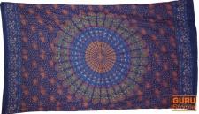 dünnes Tuch, Sarong, Mandala Wandbehang, Wickelrock, Sarongkleid - blau/orange 2